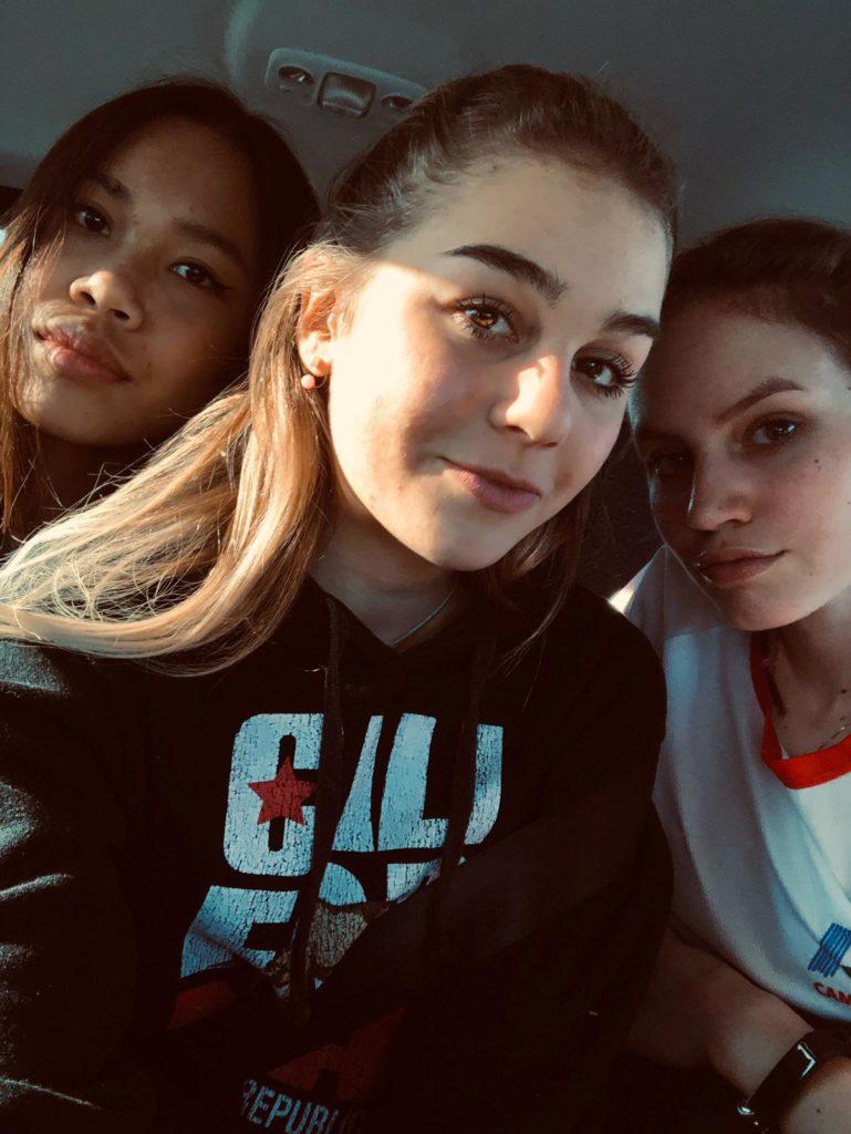 Atitaya Kongkaew, Letizia Nocerino ed Elisa Bottini in viaggio verso Ancona
